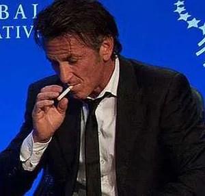 Sean Penn Vaping