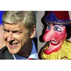 Look Alikes Arsene Wenger and Punch the Puppet