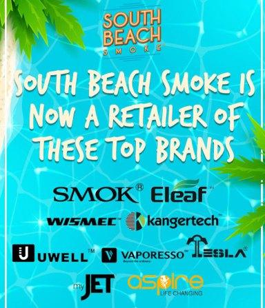 South Beach Smoke now sells top Ecig Brands
