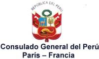 logo consulado peru en francia