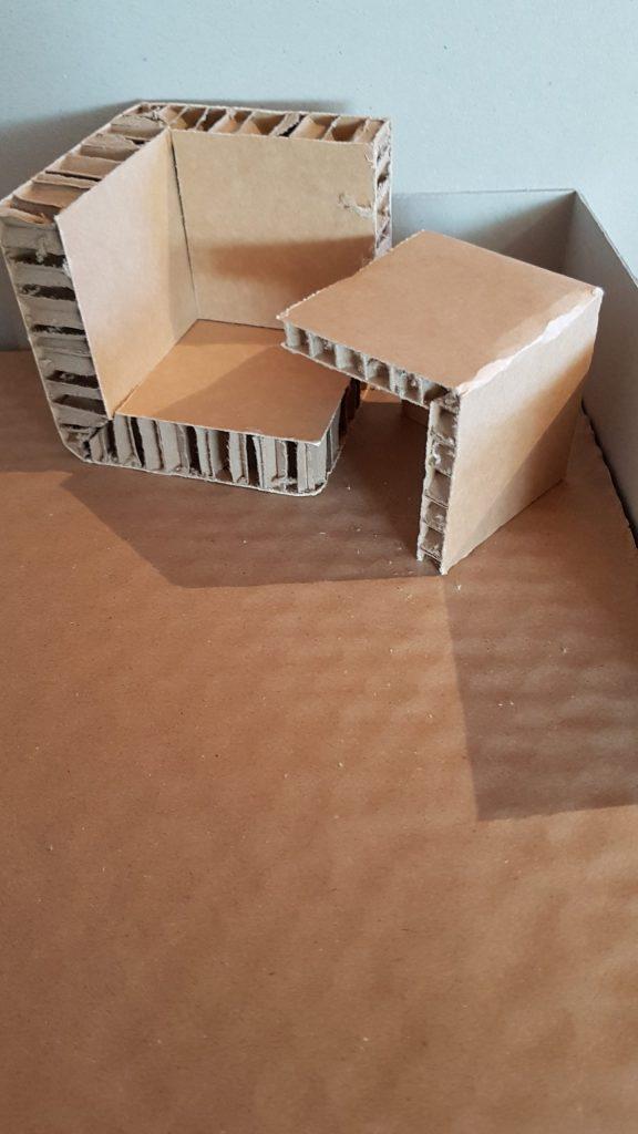 Eckenschutz aus Wabenplatten