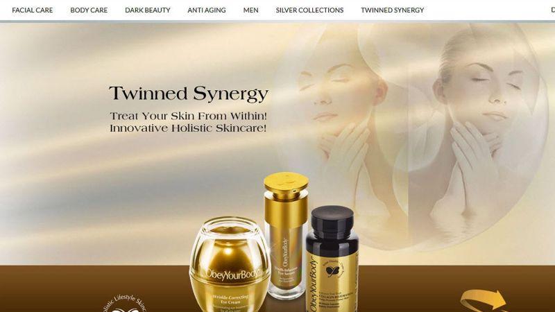 Screenshot der Website des Kosmetikanbieters Obey Your Body, www.obeyyourbody.com, vom 31. August 2016