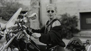 Kathy Acker on Bike
