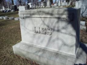 LIES headstone