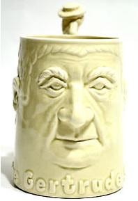 stein face mug