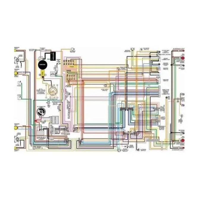 ford fairlane color laminated wiring diagram 19621970