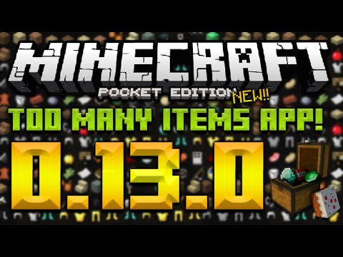 TOO MANY ITEMS FOR 0130 MCPE Master FREE Inventory
