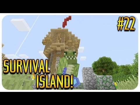 MINECRAFT SURVIVAL ISLAND THE STATUE BUILD Episode 22
