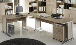 Bürotisch Office Line Winkelkombination Eckschreibtisch Eiche Sonoma -