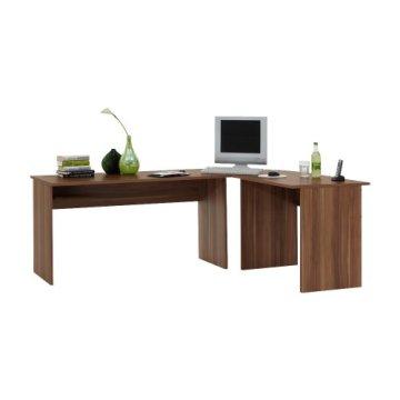 FMD Möbel 351-001 Computertisch Till (B/H/T) 205.0 x 76.0 x 65.0/155.0 cm, zwetschge -