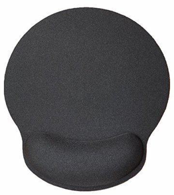 Silent Monsters ergonomisches Komfort Mauspad mit Handauflage aus Gel, schwarz -