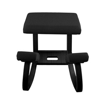 Varier Furniture 1000 Variable balans, Originale Kniestuhl, Holz, schwarz, 72 x 52 x 51 cm -