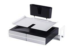 aibecy 4 schichten metall mesh ablagef cher sortierablagen mit fu pad dokument brief papier. Black Bedroom Furniture Sets. Home Design Ideas