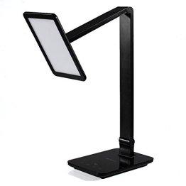 ANNT® 10W LED Intelligente Tischlampe Touch Schreibtischlampe (Große emittierende Panel,Intelligente Dimmen,Farbtemperatursteuerung,Augenschutz) Aufladung mit USB-Anschluss für Smartphone -