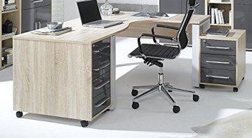 Arbeitszimmer komplett Set MAJA SYSTEM 1203 Büromöbel in Eiche Sonoma / hochglanz grau -