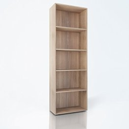 Bücherregal 190cm Eiche Sonoma - Regal Standregal Aktenregal Aktenschrank -