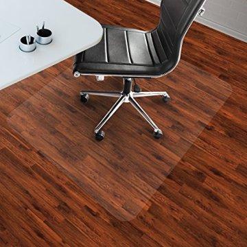 etm® Bodenschutzmatte 120x150cm Hartboden | extra transparent und rutschfest | optimales Gleitverhalten für Stuhlrollen | weitere Größen mit und ohne Lippe wählbar -