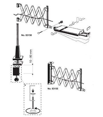 Maul Telefon Scherenarm