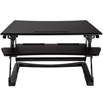 TecTake Sitz- Steh- Schreibtischaufsatz   höhenverstellbar   ergonomisch   Schwarz - diverse Größen - (Typ 2   Nr. 402300) -