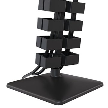 boho möbelwerkstatt Slim Line Kabelführung Kabelkanal Kabelmanagement in Schwarz Matt für höhenverstellbare Schreibtische variabel kürzbar mit 66 flexiblen Elementen - 5