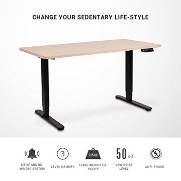 Flexispot Höhenverstellbarer Spieltisch Elektrisch höhenverstellbares Tischgestell, 3-Fach-Teleskop, passt für alle gängigen Tischplatten. Mit Memory-Steuerung und Softstart/-Stop - 7