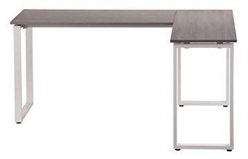 hjh OFFICE 674170 Eckschreibtisch WORKSPACE Basic Grau/Weiß Schreibtisch in Holzoptik mit Stahl-Gestell 165 x 120 cm - 4