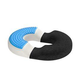bonmedico Orthopädisches Hämorrhoiden-Sitzkissen mit innovativer Gel-Schicht, Sitzring wirkt schmerzlindernd, auch zur Steißbein-Entlastung für Auto, Sofa, Büro & Rollstuhl, Normal - 1