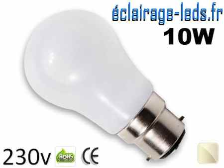 ampoule Led B22 liquide 10w blanc Naturel IP65 230v