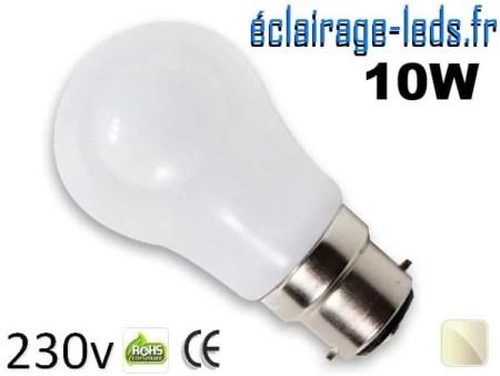 ampoule Led B22 liquide 10w blanc Naturel IP65 230v