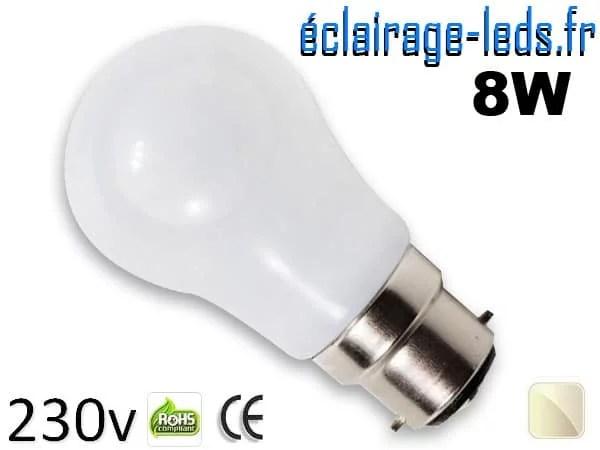 Ampoule Led B22 liquide 8w blanc Naturel IP65 230v