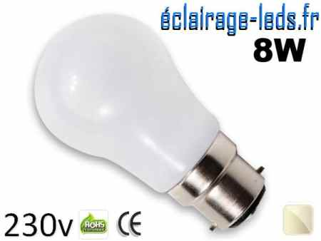 Ampoule Led B22 liquide 8w blanc Naturel IP65 230v