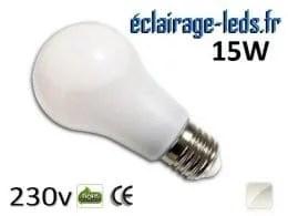Ampoule led E27 liquide 15w SMD blanc naturel 4500K 230v AC