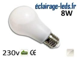 Ampoule led E27 liquide 8w SMD blanc naturel 4500K 230v AC