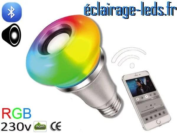 Ampoule led E27 Queen musicale bluetooth RGB 230v AC ref Q004-1