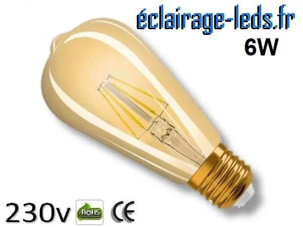 Ampoule led cob E27 edison vintage 6W