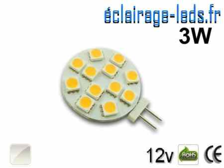 Ampoule led G4 12 led SMD 5050 blanc naturel 12v