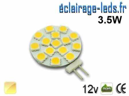 Ampoule led G4 15 led SMD 5050 blanc chaud 12v