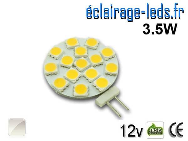 Ampoule led G4 15 led SMD 5050 blanc naturel 12v