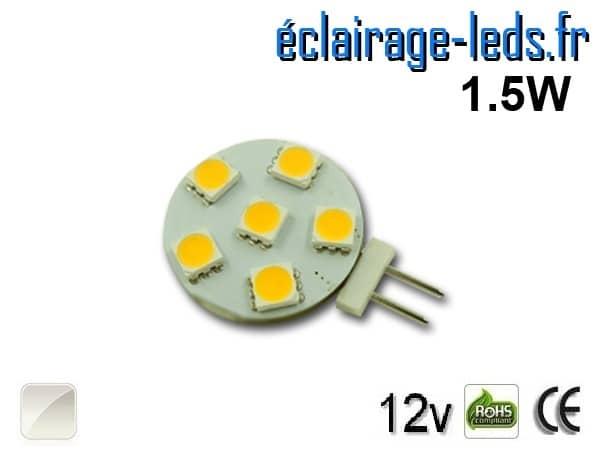 Ampoule led G4 6 led SMD 5050 blanc naturel 12v
