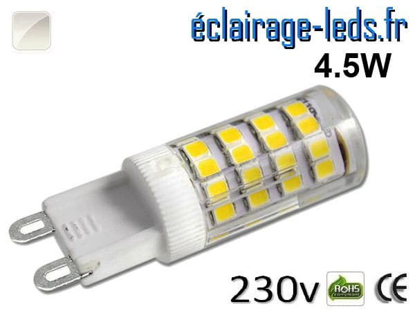 Ampoule LED G9 4.5w smd 2835 blanc naturel 230v