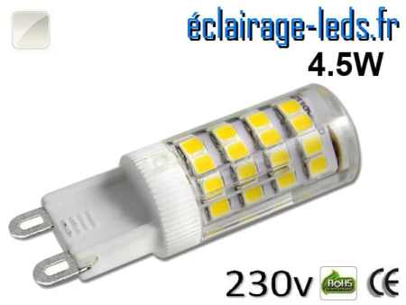 Ampoule LED G9 4.5w smd 2835 blanc naturel 230v