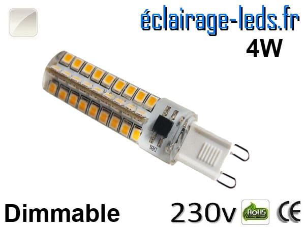 Ampoule LED G9 dimmable 4w smd 2835 blanc naturel 230v
