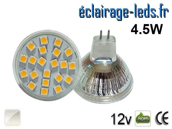 Ampoule LED MR16 21 led smd 5050 blanc naturel 12v