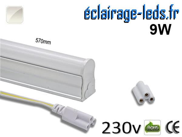 Tube LED T5 9w blanc naturel 900 Lm 230v AC
