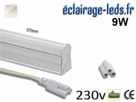 Tube LED T5 9w blanc naturel 900 Lm 230v AC