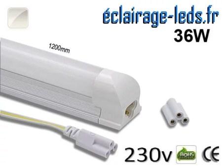 Néon LED T8 36w 120cm blanc naturel 230v