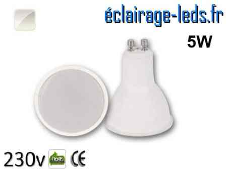Ampoule LED GU10 5w blanc naturel 230v