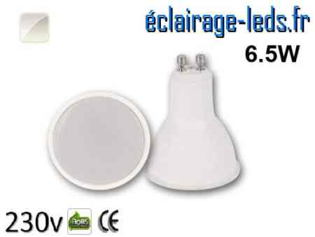 Ampoule LED GU10 6.5w blanc naturel 230v
