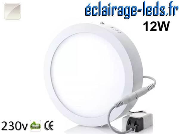 Spot LED 12w blanc naturel design déporté 230v