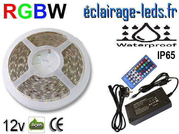 Kit bandeau LED 5m RGBW IP65 smd5050 12v